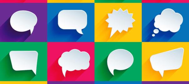 bocadillos de diálogos